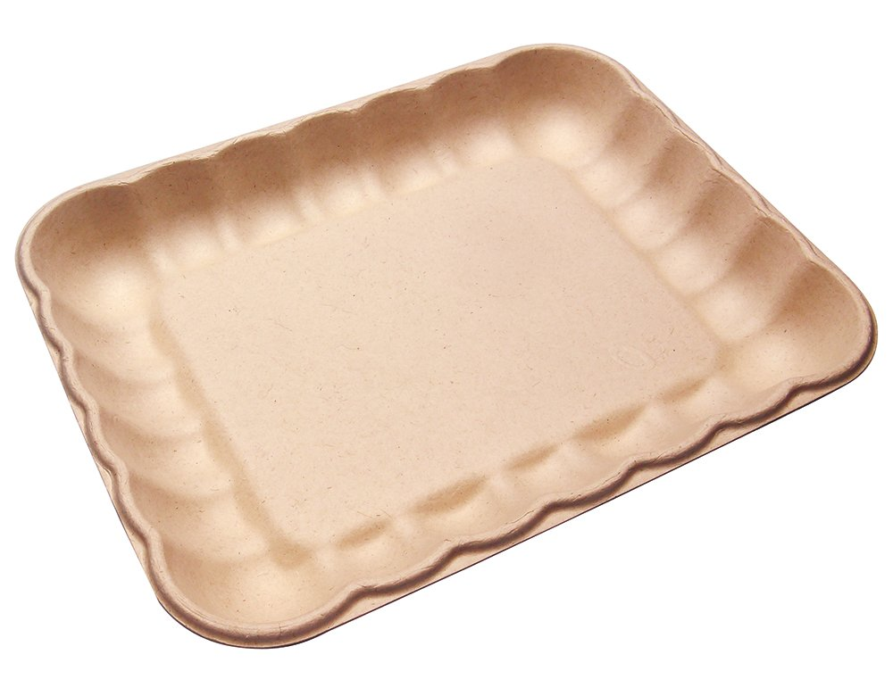 AURA eco-packaging 600 Count 4D Cloud Shaped Bagasse Produce Trays with PLA Coating AURA-CP-4D
