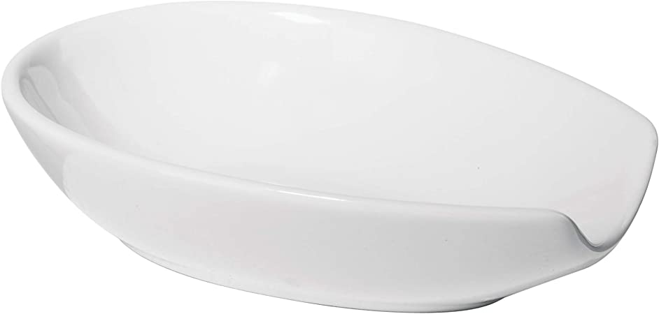 Windsor Canada Ceramic Spoon Rest CDF Countertop Spoon Rest White Red Blue Hanging Spoon Rest 8 18 long x 3 wide