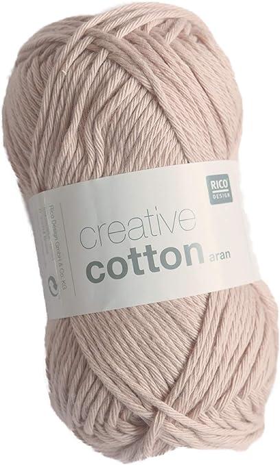 Rico Creative Cotton Aran FB. 06 Rosa Viejo, Hilo de algodón para ...