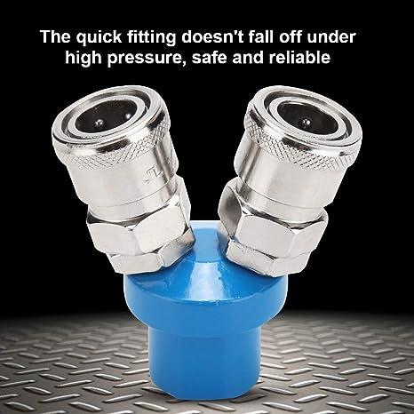 2 Wege Schlauchverteiler Pneumatischer Steckverbinder Gas schnellkupplung 1//4-Zoll Luftschlauch Schnellkuppler Verteiler Y Form