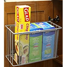 DecoBros Over Cabinet Door Organizer Holder, Silver