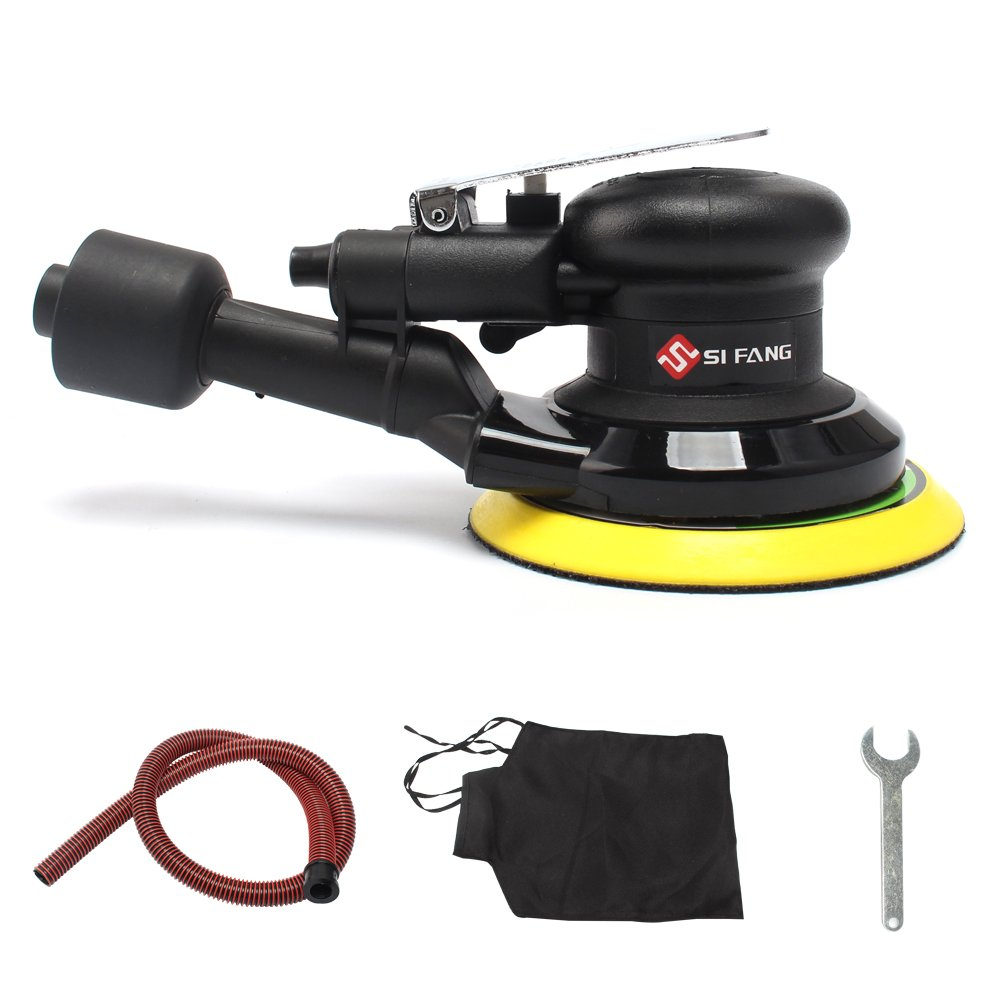 SI FANG 5 Air Random Orbital Sander Self-Generated Vacuum Dual Action Pneumatic Tool