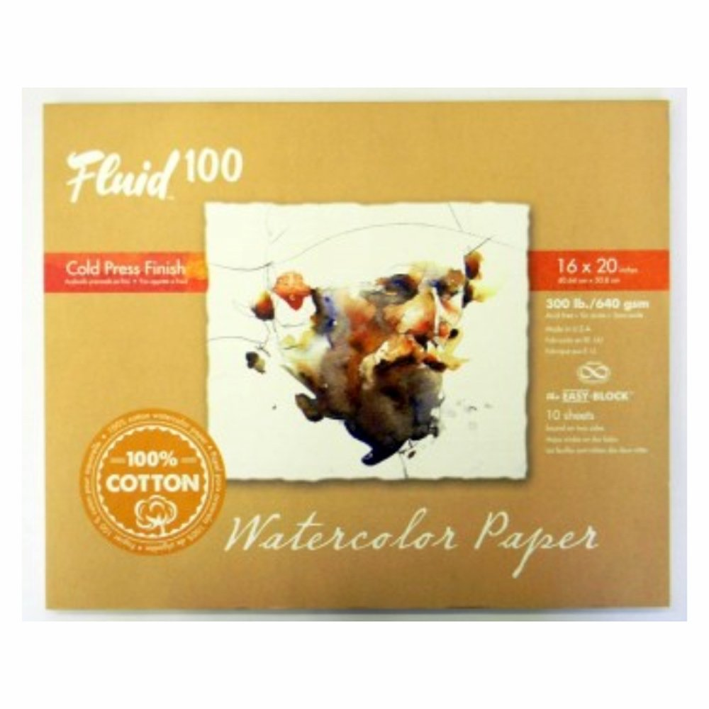 Handbook Paper Fluid 100 Watercolor Cp 300Lb Ez-Block 16X20 by Handbook Paper