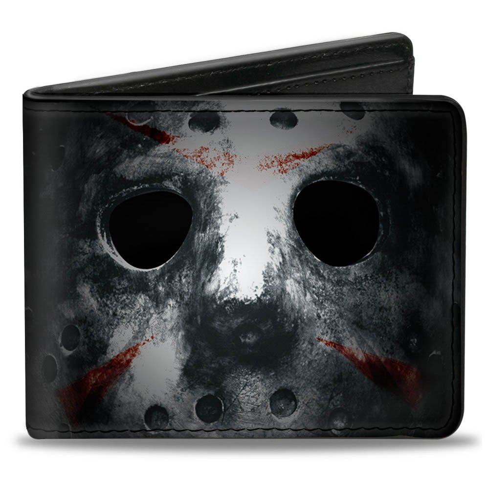 Buckle-Down Men's Wallet Jason Mask3 Close-up + Friday The 13th Black/grays/re Accessory, -Multi, One Size PUW-FRIF