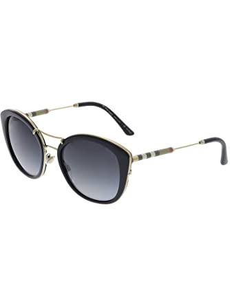 412a2910a3d Amazon.com  Burberry Women s BE4251Q Sunglasses Black Polar Grey ...