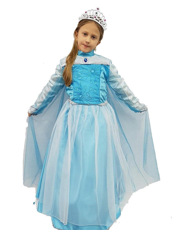 pequeños monelli Traje Elsa Frozen niña Vestido de Princesa ...