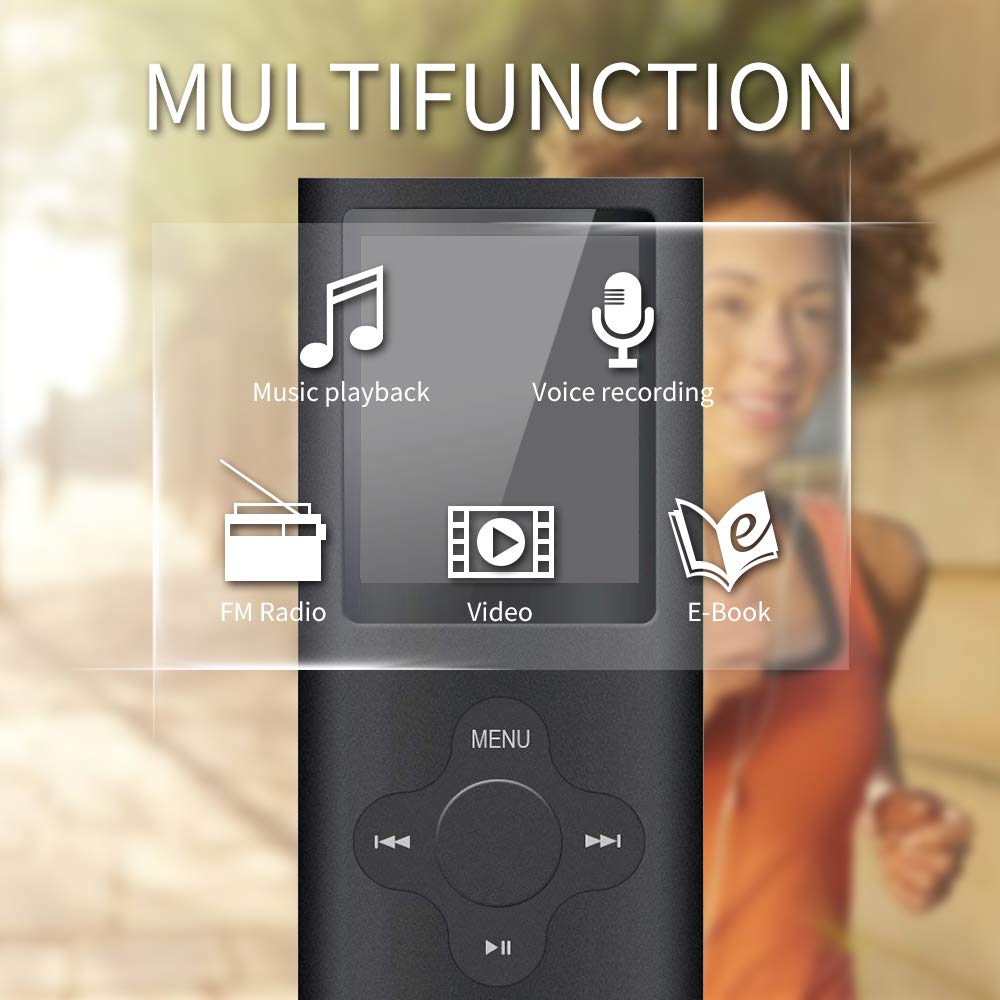 Reproductor MP3, ZEPST 8GB MP3 Player con Radio FM Pantalla DE 1,8\