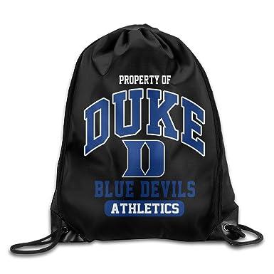 DUKE GYM BAG DUKE BLUE DEVILS BACKPACK BLUE DUKE BOOKBAG WHITE NYLON!