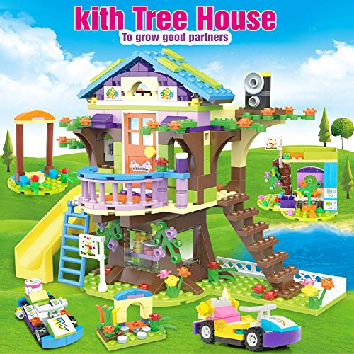 Kith Coffee House Tree House Creative Building Toy Set for Kids, Best Learning and Roleplay Gift for Girls and Boys with Storage Box (960 Pieces)