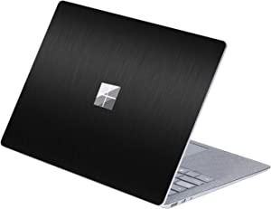 MasiBloom Top Sticker Protective Decal for 13 13.5 inch Microsoft Surface Laptop 3 & 2 & 1 (2019 2018 2017 Released) Anti-Scratch Vinyl Laptop Cover Skin, Not fit for Surface Book (A- Black)