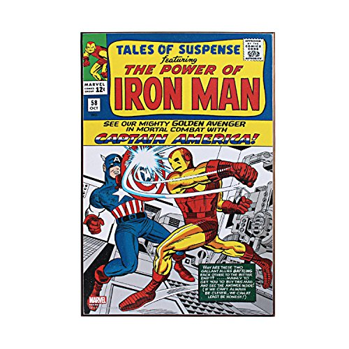 Silver Buffalo MC8636 Marvel Iron Man Tales of Suspense Wood Wall Art, 13x 19 inches