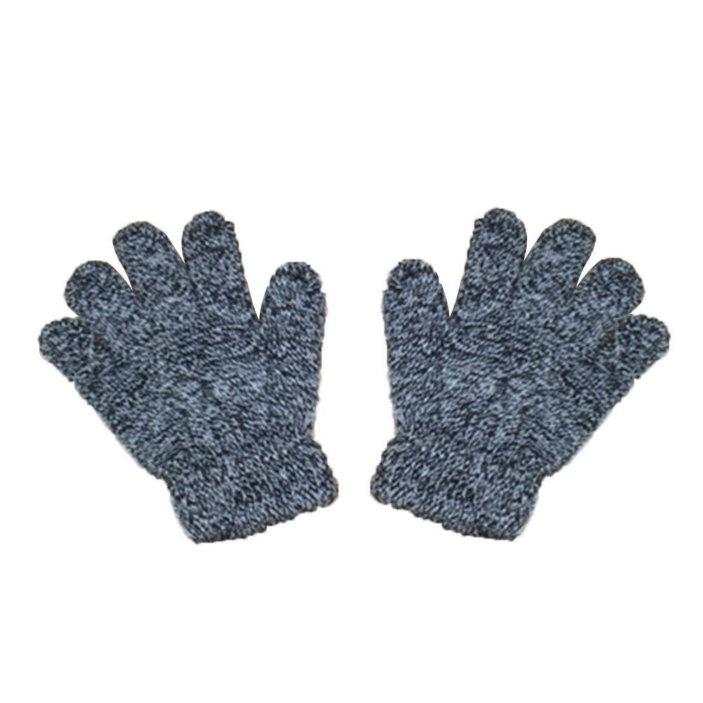 Cotton 12.5-13 cm white Fansi 1 Pair Children Soft Gloves Autumn Winter Warm Outdoor Knitting Cotton Skating Gloves