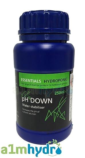 Essentials pH Down 250ml pH Control 81% Phosphoric Acid Hydroponics