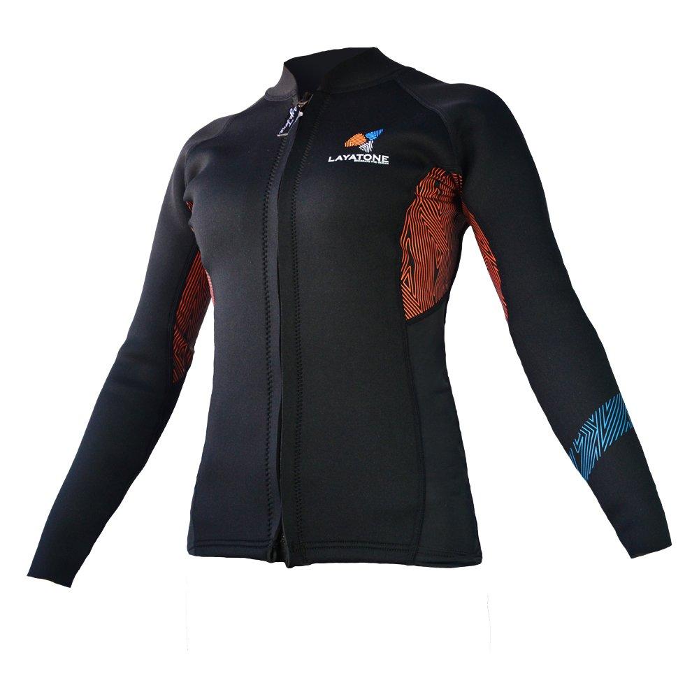 新しい季節 Layatone ウェットスーツトップ ジャケット 暖かい レディース スーツ プレミアム 3mm ネオプレン ダイビングスーツ ジャケット - 長袖 フロントファスナー ダイビング トップ サーフィン スーツ - 暖かい シュノーケリング スキューバ ダイビング スーツ トップ ジャケット - 女性用ウェットスーツ B06WGLBDWT ブラック X-Large X-Large|ブラック, ゴショガワラシ:6858727a --- arianechie.dominiotemporario.com