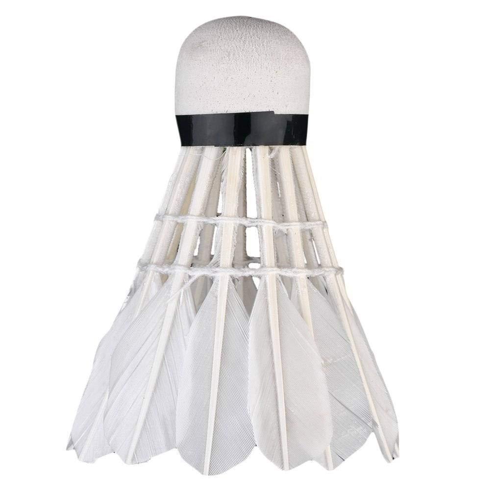 3pcs Game Sport Training White Duck Feather Shuttlecocks Badminton Ball