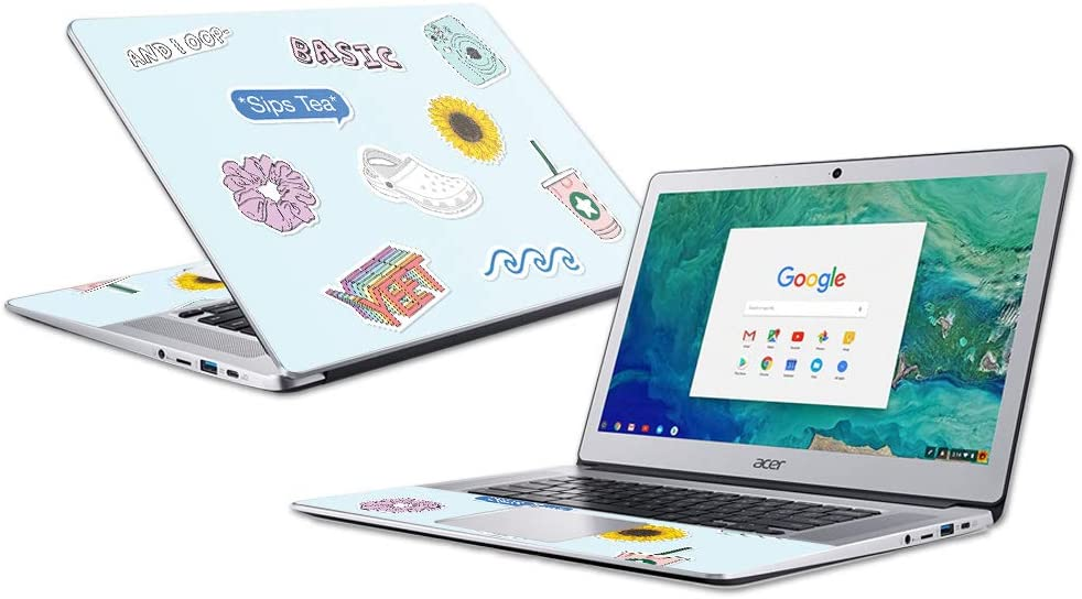 """MightySkins Skin for Acer Chromebook 15"""" (2018) - VSCO Girl   Protective, Durable   Easy to Apply, Remove, and Change Styles   Made in The USA"""
