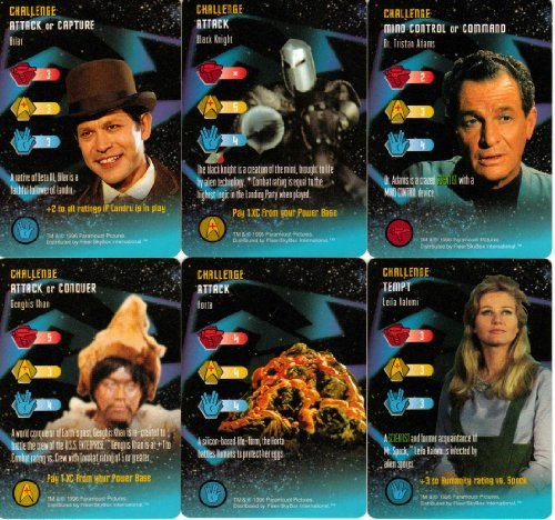 30 Uncommon Cards From Star Trek The Original Series Customizable Card Game (CCG) Set 1