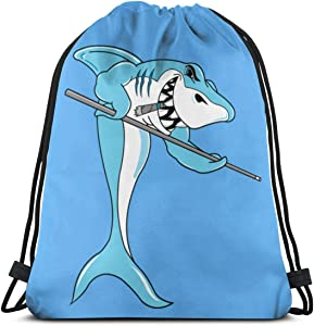 Shark Billiard Sports Bag Classic Drawstring Backpack