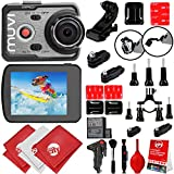 VEHO MUVI K-Series K2 Pro 4K Wi-Fi Sports Action Camera w/ 12PC Starter Kit (VCC-007-K2PRO)