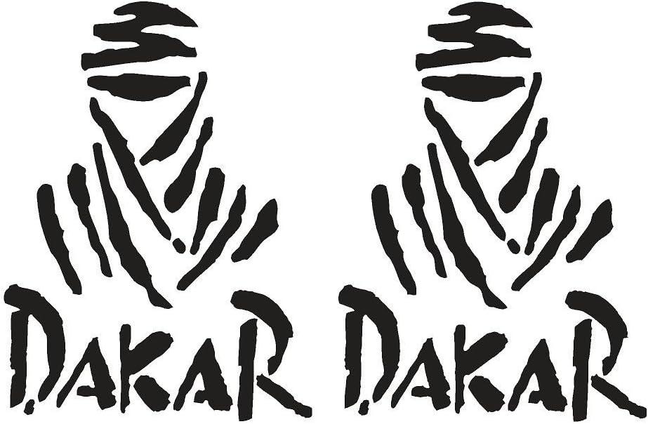 Pegatina Dakar 25 cm altura: Amazon.es: Coche y moto