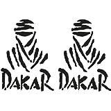 Artstickers Pegatina Dakar 29 x 21 cm, 1 Unidad Adhesivo de Vinilo Blanco, (15 Colores a Elegir), Vinilo Regalo 1 Pegatina SPILARTS®: Amazon.es: Coche y moto