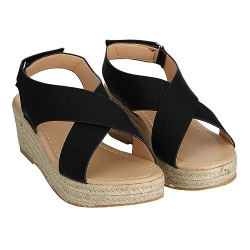 80c1355c443 Amazon.com   Women's Emerge Espadrille Wedge Sandal Peep Toe ...