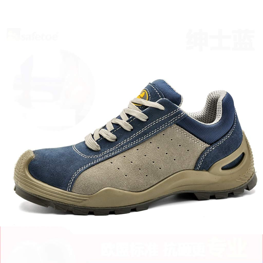 B Bottes de travail Chaussures de travail, chaussures de travail légères, confortables, pour hommes et femmes, chaussures de travail, chaussures de sécurité en acier à bout renforcé en cuir + chaussures 38 EU