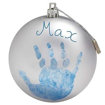 Baby Art My Christmas Fairy Weihnachtskugel, Handabdruck und Namen Weihnachtsdekorationsset zum Selbermachen, silber, 0M+, 10