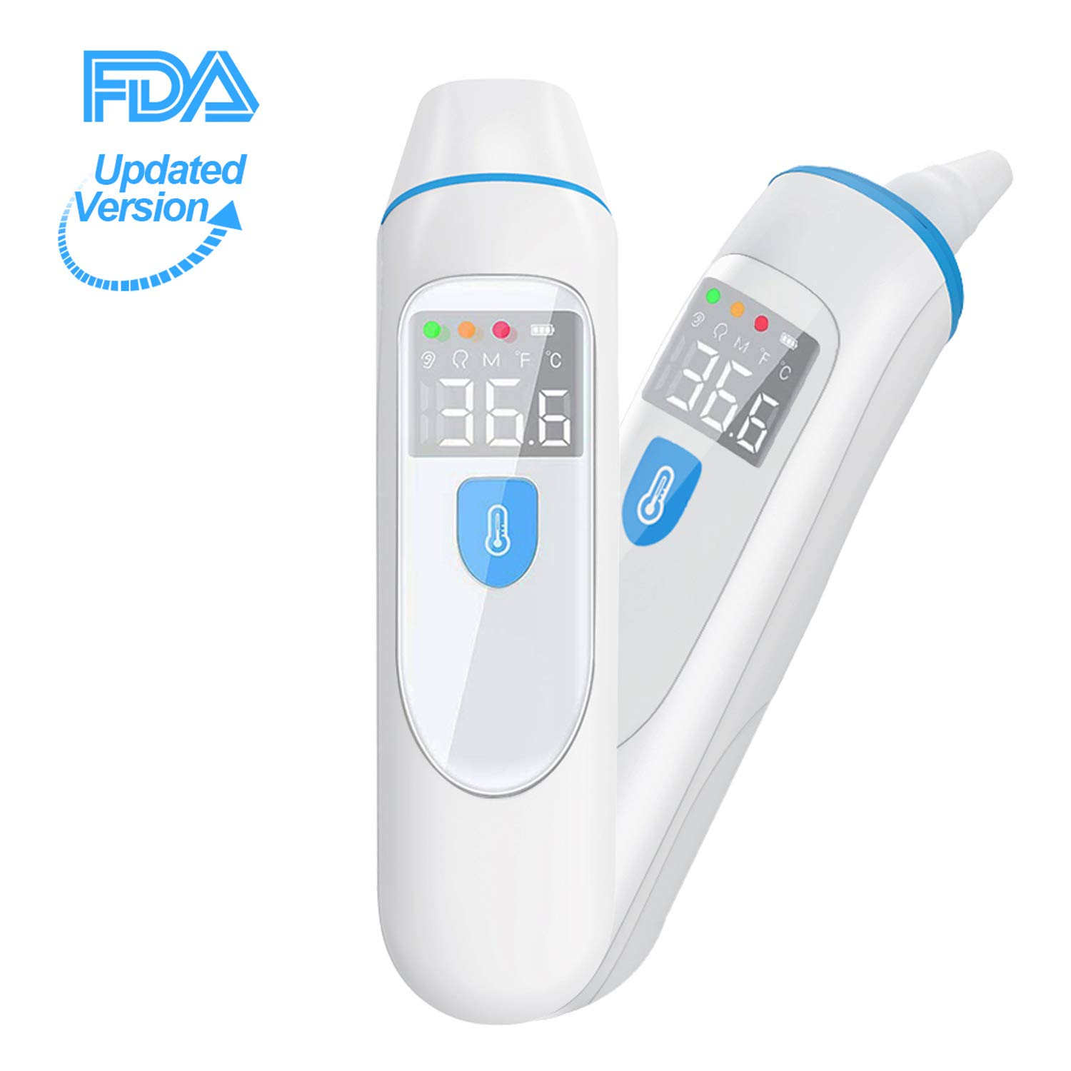 FERTOY Medical Digital Infrared Thermometer with 32 Data Memory, °C / °F Switchable, Multiple Modes, Forehead & Ear Thermometer with New Algorithm, Instant Accurate Reading for Baby Kids Adults by FERTOY