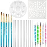 URlighting Dotting Tools (20 Pcs) Mandala Dotting Kit for Rock Painting, Coloring, Drawing & Drafting, Kids' DIY Crafts…
