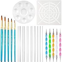 URlighting Dotting Tools (20 Pcs) Mandala Dotting Kit for Rock Painting, Coloring, Drawing & Drafting, Kids' DIY Crafts, Clay Sculpting, Nail Art