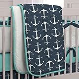 Carousel Designs Navy Anchors Crib Comforter