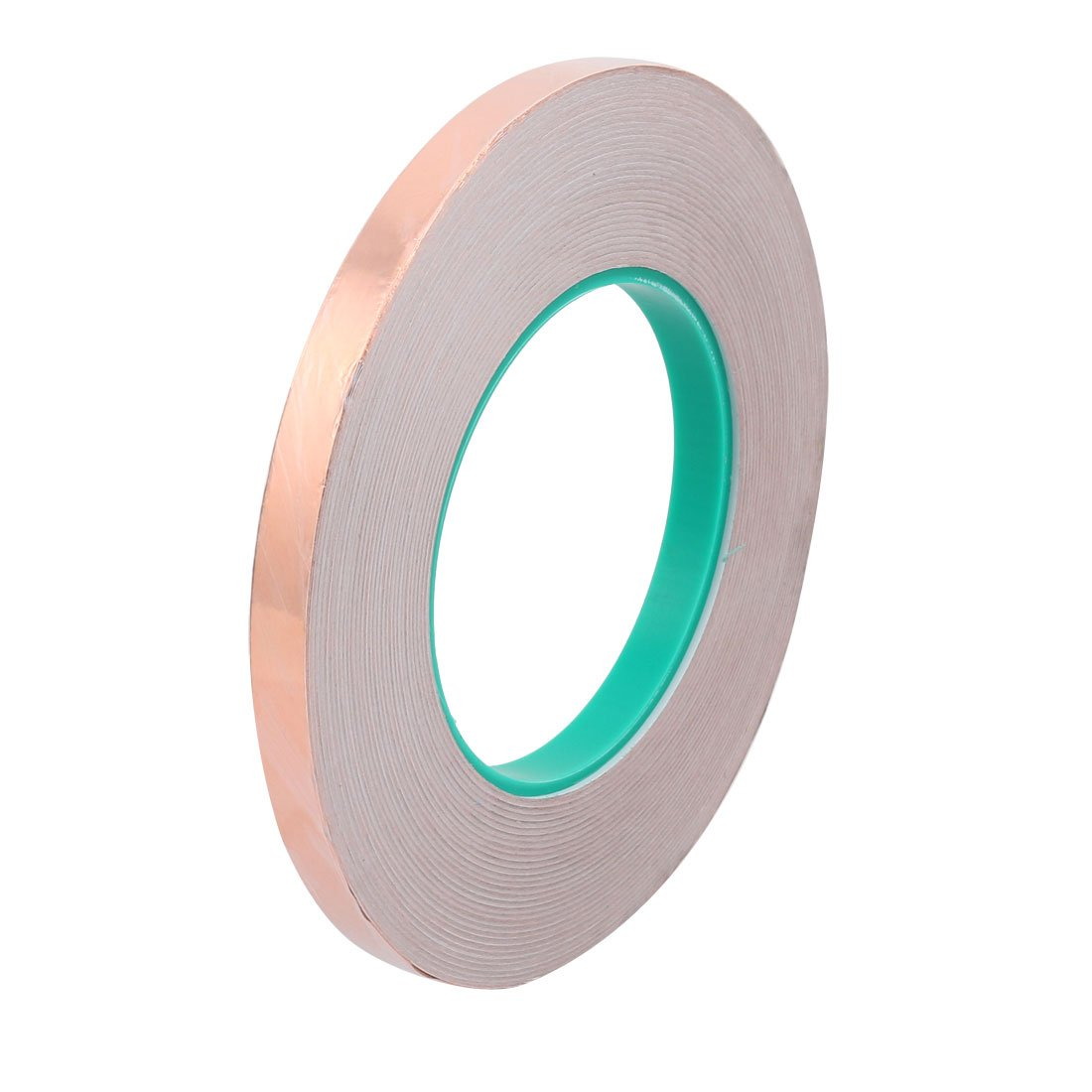 uxcell 10mm Width 50M Length DIY Adhesive Double Sided Conductive Copper Foil Tape