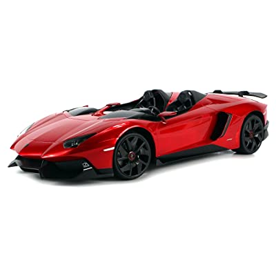 AJ Toys & Games Electric Remote Control Car Big 1: 12 Scale Ready to Run Lamborghini Aventador J Roadster Limited Edition, Rc Supercar, Exotic Italian RC Car: Toys & Games