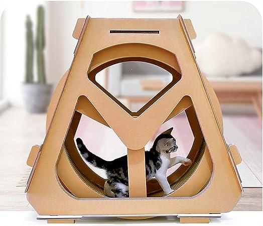 Muebles para Gatos Cinta De Correr Corrugado Rueda De La Fortuna ...