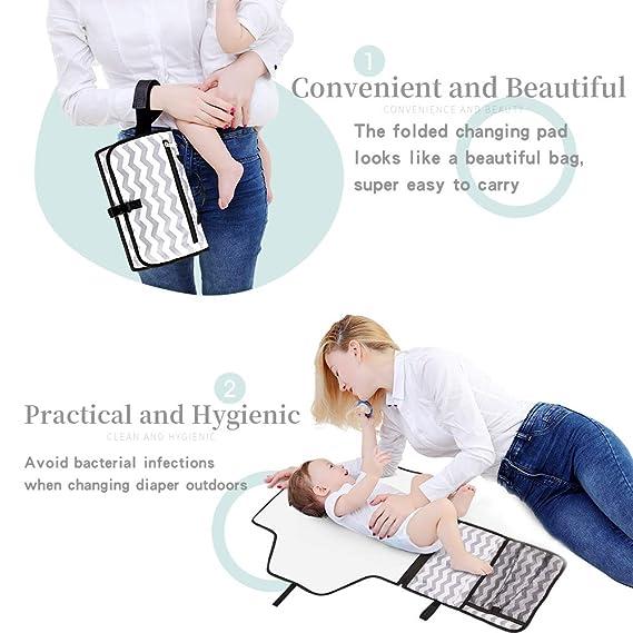 Amazon.com: Cambiador portátil para bebés: cambiador ...