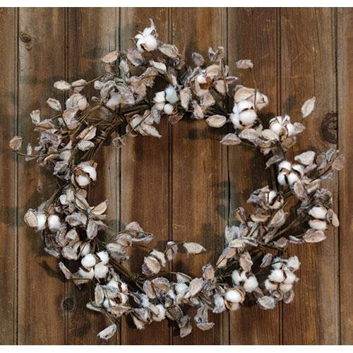 Heart of America Cotton Ball Wreath 20''