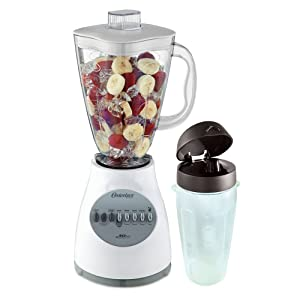 Oster 6629 10-Speed 450-Watt Blender, White