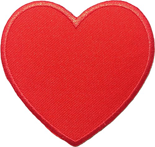 (Heart Red Sew Iron on Embroidered Patches)