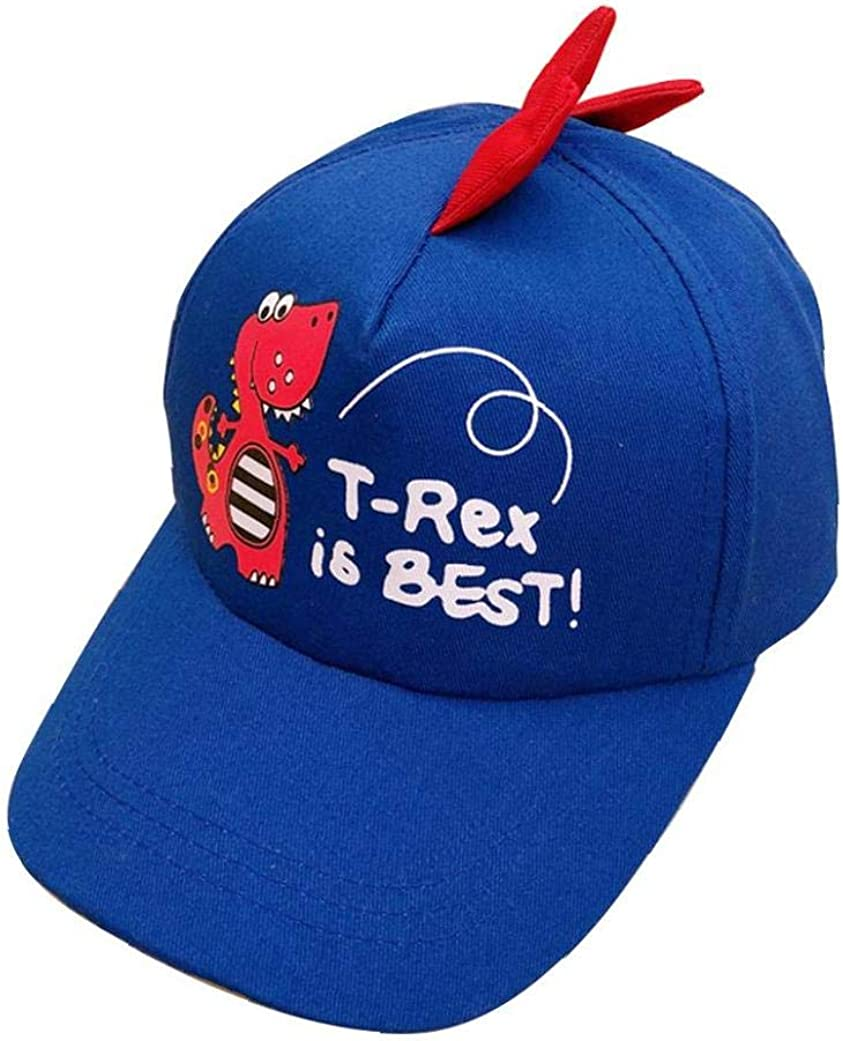 Boys Girls Cartoon Dinosaur Baseball Cap Casual Printed Hats for Kids