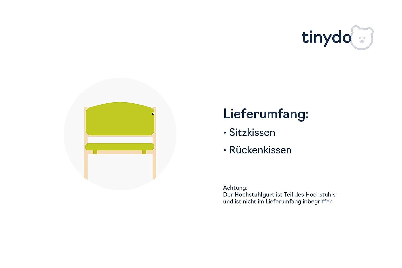 Tinydo/® Hochstuhl-Sitzkissen optimal f/ür Geuther Swing und /ähnliche Treppenhochst/ühle mit Memory-Schaum-D/ämpfung Sitzverkleinerer-Auflage f/ür Babyst/ühle rutschfest pflegeleicht dunkelgrau
