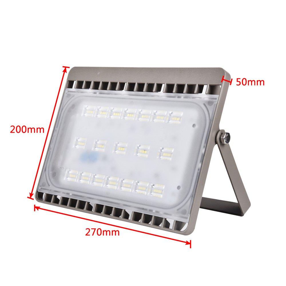 2x LED Flutlicht Baustrahler 50W 3250 Lumen Arbeitsleuchte Fluter 3m Kabel