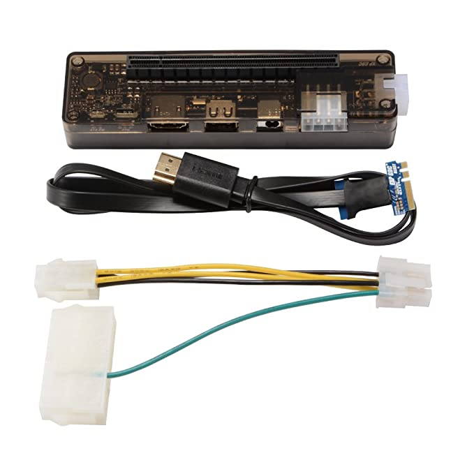 XCSOURCE V8.4 EXP GDC Laptop External Independent Video Card PCI-E 16X Graphics Card M.2 A Key with NGFF Cable and ATX PSU Power Cable AC866
