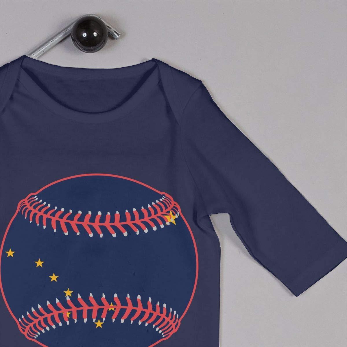 TYLER DEAN Newborn Kids Jumpsuit Alaska Flag Baseball Clipart Baby Rompers