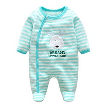 069fd2663fc1 Toddler Girls Boys Footed Overall - Mxssi Newborn Baby Romper Animal ...