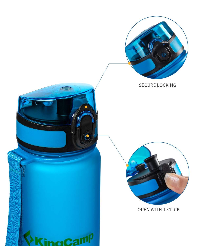 Kingcamp 17.7oz//500/ml Tritan Royal azul boca ancha deportes botella de agua