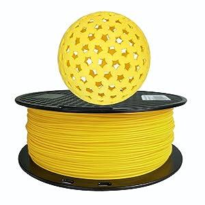 PLA + Yellow PLA Filament 1.75 mm 1KG 3D Printing Filament 2.2LBS Spool 3D Printer Material Strength Than PLA Pro Plus Filament CC3D PLA MAX Yellow Color