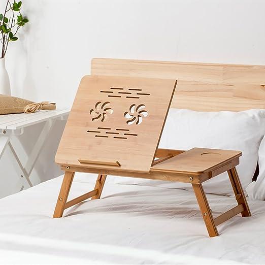 Tz Mesa Plegable de bambú para Ordenador portátil, Mesa Plegable ...