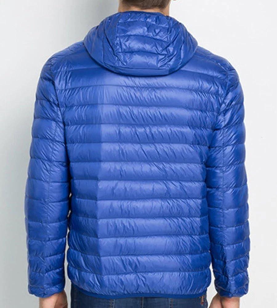 Wxian Mens Lightweight Hooded Down Jacket Coat