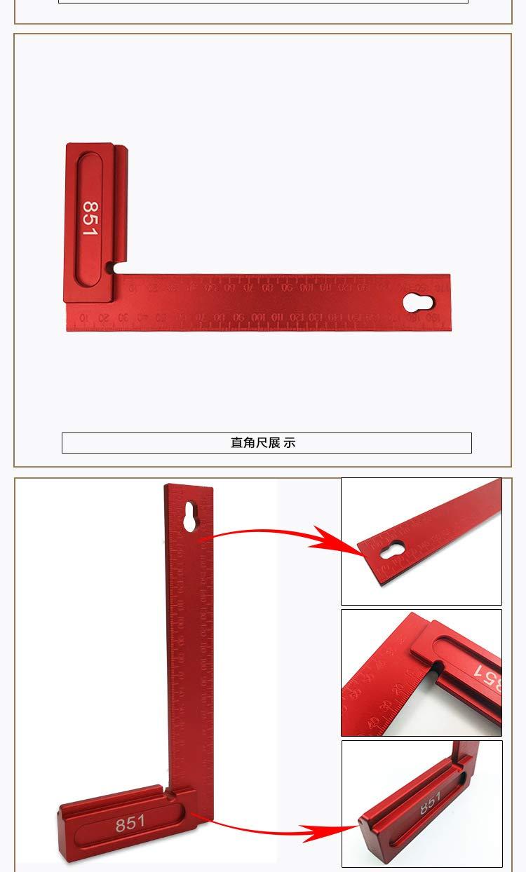 Sourcingmap /Équerre de pr/écision en alliage daluminium 90 degr/és 200 mm